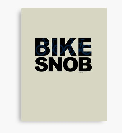 Bike Snob / bicycle snob - blue Canvas Print