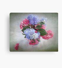 Endless Summer Hydrangeas and Roses Still Life Canvas Print