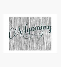 Wyoming State Typography Photographic Print