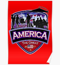 America First the Great Memorial Patriot  Poster