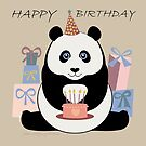 PANDA HAPPY BIRTHDAY by Jean Gregory  Evans