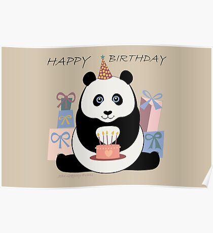 PANDA HAPPY BIRTHDAY Poster