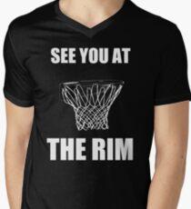 At The Rim Mens V-Neck T-Shirt