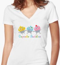 Cupcake Buddies Women's Fitted V-Neck T-Shirt