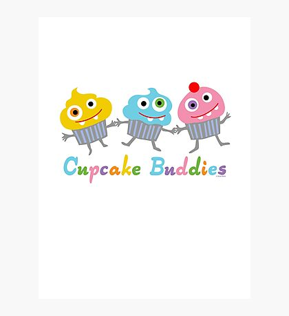 Cupcake Buddies Photographic Print