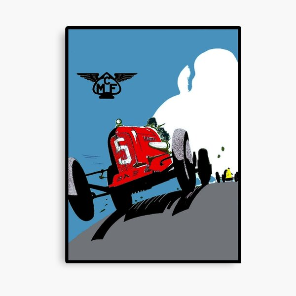 GRAND PRIX: Vintage Auto Racing Advertising Print Canvas Print