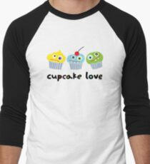 Cupcake Love ll Men's Baseball ¾ T-Shirt