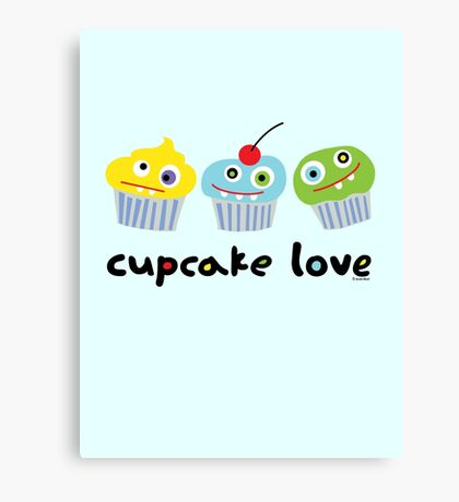 Cupcake Love ll Canvas Print