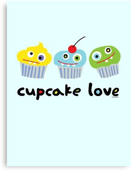 Cupcake Love ll by Andi Bird