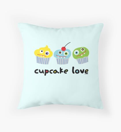 Cupcake Love ll Throw Pillow