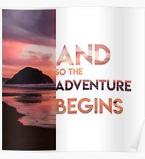 Adventure Begins Poster