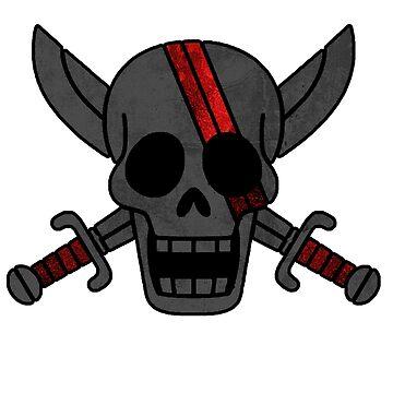 Red Hair Pirates Flag by choobies