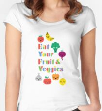 Eat Your Fruit & Veggies lll Women's Fitted Scoop T-Shirt