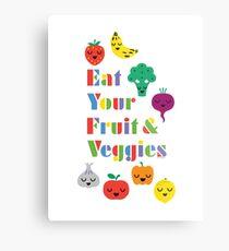 Eat Your Fruit & Veggies lll Metal Print
