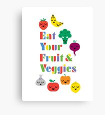 Eat Your Fruit & Veggies lll Canvas Print