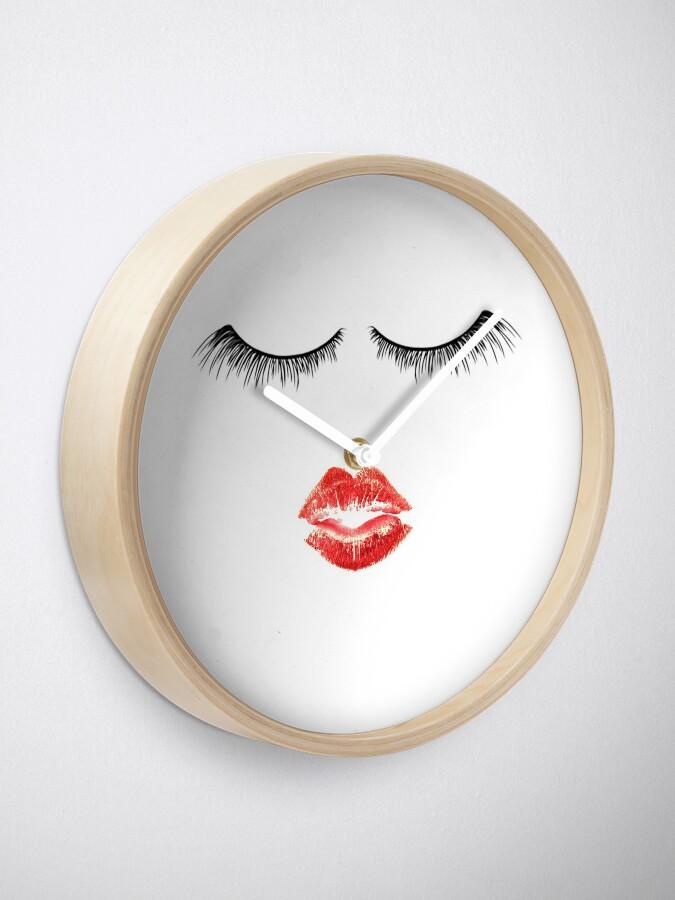 Alternative Ansicht von Nette Makeup Themed - Wimpern und Lippen Uhr
