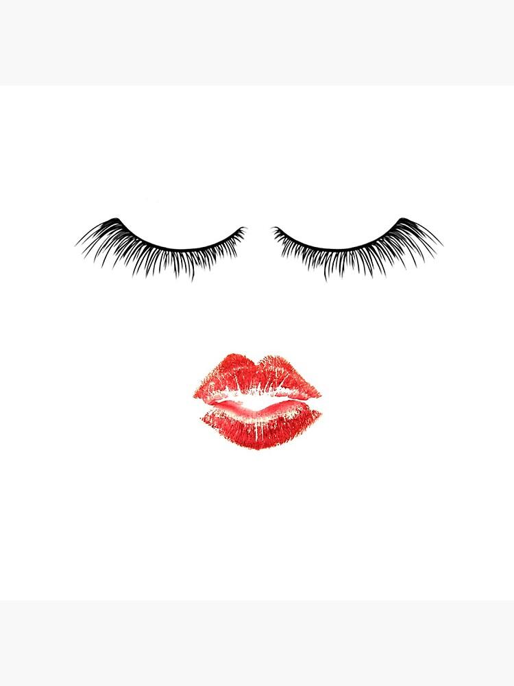 Nette Makeup Themed - Wimpern und Lippen von DSweethearts