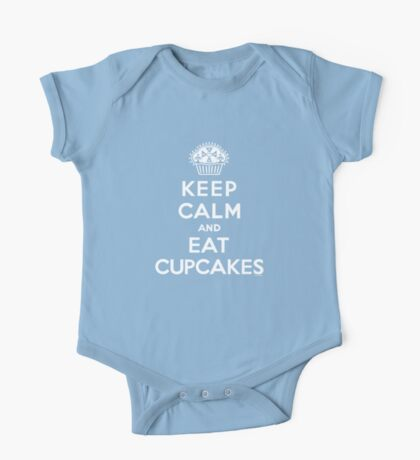 Keep Calm and Eat Cupcakes - white type Kids Clothes
