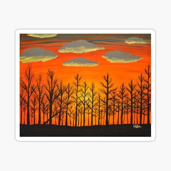 Winter Sunset - Horizontal Sticker