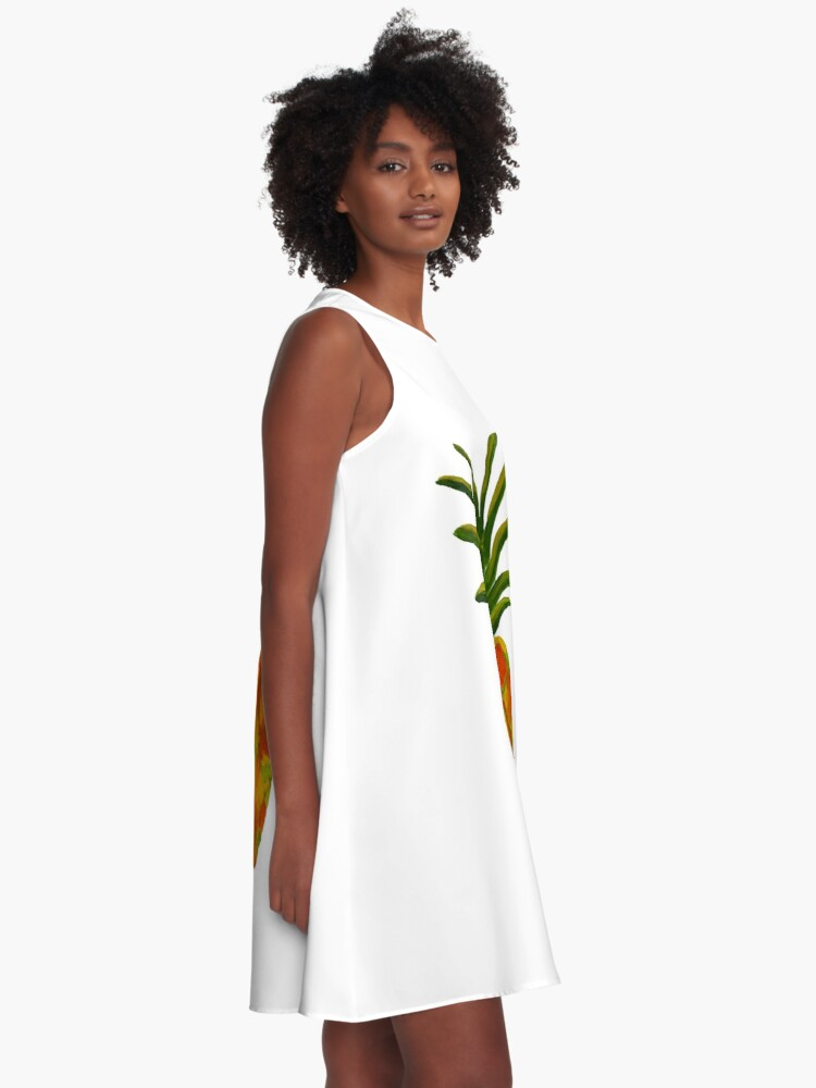 Alternate view of Golden Pineapple A-Line Dress