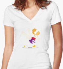Rayman Women's Fitted V-Neck T-Shirt