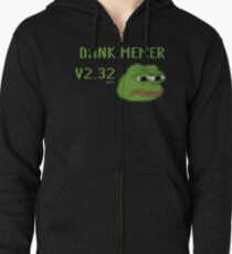 Dank Memer Version 2.32 BETA Zipped Hoodie