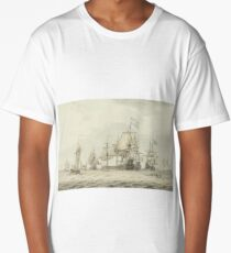 Dominic Serres,  A Squadron of the Fleet making ready to sail, probably from Spithead, the ships' Long T-Shirt
