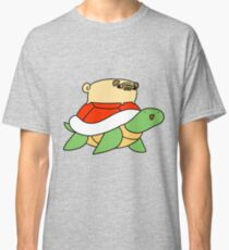 Pug and Red Shelled Turtle  Classic T-Shirt