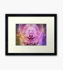 Meditation Yoga Zen Chakra Healing Holistic Geometric Mandala Framed Print