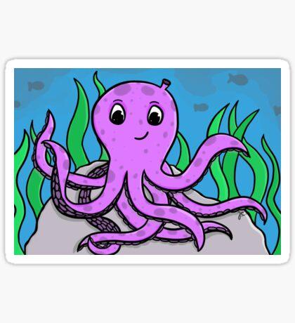 octo violeta Pegatina
