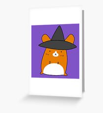 Witch Hamster Greeting Card