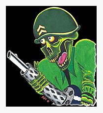 SOLDIER OF DEATH - Art By Kev G Photographic Print