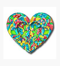 Artistic 3D Floral Heart  Photographic Print