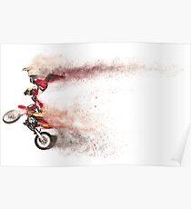Sandstorm Motocross Biker Poster
