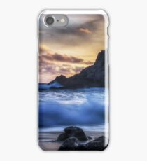Traces on the beach iPhone Case/Skin