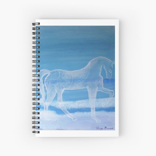 White Horse & Ocean Shoreline Spiral Notebook