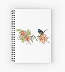 Fairy Wren and Grevillea  Spiral Notebook