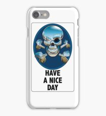 Helpful Sign. Same as cousin Skull An Crossbones but not. iPhone Case/Skin