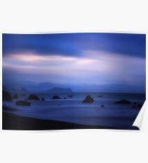 Blurred Reality beach scene Poster