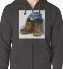 Boots Zipped Hoodie