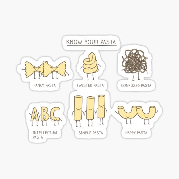 know your pasta Sticker