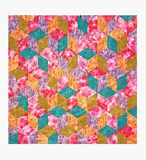 Colorful Isometric Cubes VII Photographic Print