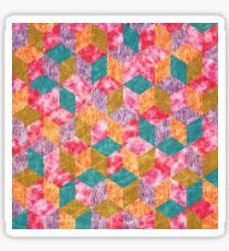 Colorful Isometric Cubes VII Sticker