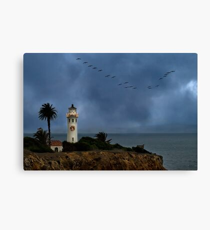 Storm brewing off Point Vicente Canvas Print