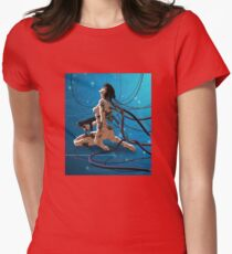 Ghost in a shell Womens Fitted T-Shirt