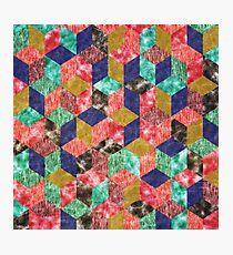 Colorful Isometric Cubes X Photographic Print