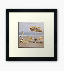 Neil Young On The Beach lp cover Framed Print