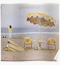 Neil Young am Strand lp Abdeckung Poster