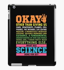 Science March T-Shirt Science Earth Day Scientists iPad Case/Skin