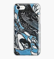 Green and Black Honeyeater Birds iPhone Case/Skin